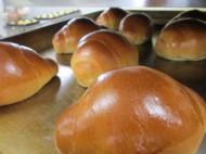 学校給食のパンを製造し、市内の小中学校へ納品しています。
