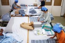 衣類のアイロンがけやたたむ作業